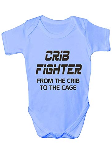 (Mesllings Crib Fighter ~ UFC/MMA ~Funny Babygrow~Babies Gift Boy/Girl Vest/Babies Clothing)