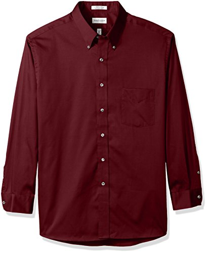 Down Shirt Collar Woven Button - Van Heusen Men's Regular Fit Oxford Button Down Collar Dress Shirt, Cayenne, XX-Large