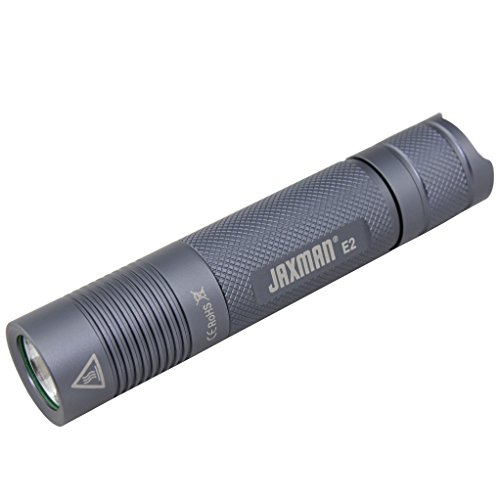 JAXMAN E2 18650 EDC LED flashlight Pocket-Sized LED Torch, Super Bright 580 Lumens,IPX-6, 5 Modes for Indoors and Outdoors( without battery) (Nichia 219B Warm White/Color Temperature 4000K)