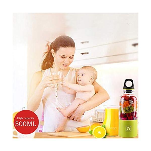 AMTSKR Spremiagrumi Elettrico Portatile Tazza Frullatore Multifunzionale Bottiglia Usb Ricaricabile Spremere Frutta… 2 spesavip