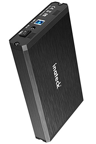 Inateck Aluminum USB 3.0 Hard Disk Drive Enclosure fit 2.5 Inch/ 3.5 Inch SATA HDD and SSD, Support UASP and 10TB Drives (FE3001)