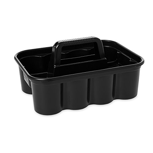 Rubbermaid Commercial Deluxe Carry Cleaning Caddy, Black (FG315488BLA)