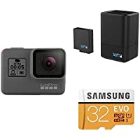 GoPro HERO 5 Black w/ Dual Battery Charger, Battery and SD Card