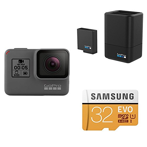 GoPro HERO 5 Black w/ Dual Battery Charger, Battery and SD Card Action Cameras