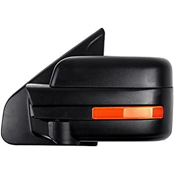 ECCPP Driver Left Door Mirror for 2004-2014 Ford F150 Rear View Mirror with Puddle Lamp Power Control Heated Manual Folding Reflector(Driver Side)
