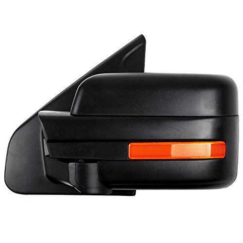 ECCPP Driver Left Door Mirror for 2004-2014 Ford F150 Rear View Mirrors with Puddle Lamp Power Control Heated Manual Folding Reflector(Driver Side)
