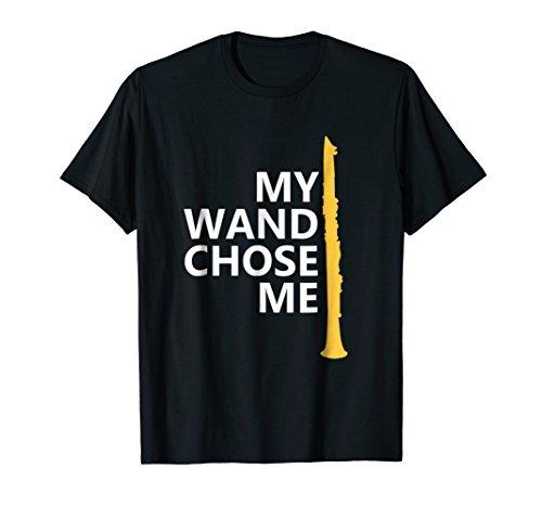 My Wand Chose Me T-Shirt, Clarinet Player Shirts -