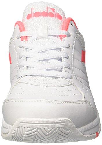 White Bianco Coral W Rosa Sciacca Diadora Damen Tennisschuhe Smash Elfenbein xXWIg6