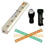 EXAIR 1102108 Super Air Knife Kit, 2.9 SCFM per Inch Maximum Flow Rate, 80 psig