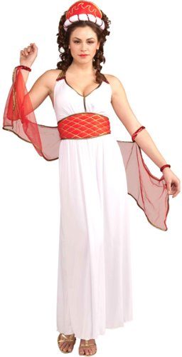 [Forum Hera Complete Costume, White/Red, Standard] (Hera Costumes)