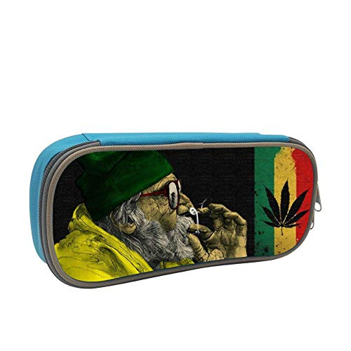 SsSEYYA Jamaica Ganja Weed Man Pencil Bag Makeup Pen Pencil Case Big Capacity Pouch Durable Students Stationery with Double Zipper Pen Holder for School/Office (Sonnenbrille, Make-up)