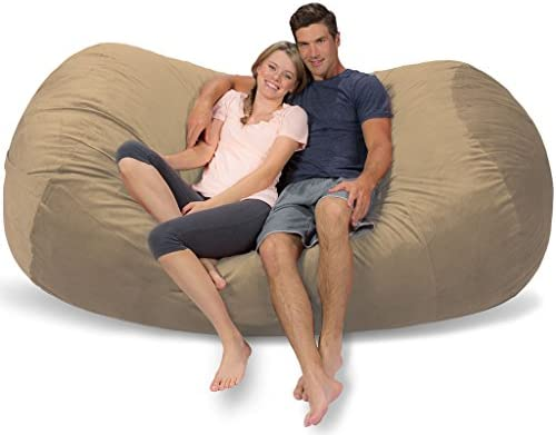 Terrific Comfy Sacks 7 5 Ft Lounger Memory Foam Bean Bag Chair Toast Alphanode Cool Chair Designs And Ideas Alphanodeonline