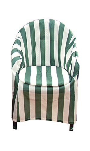 Carol Wright Gifts Striped Patio Chair Cover with Cushion