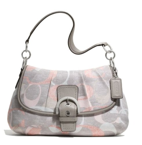 Coach Soho Optic Linen Flap Shoulder Bag Handbag - Soho Optics