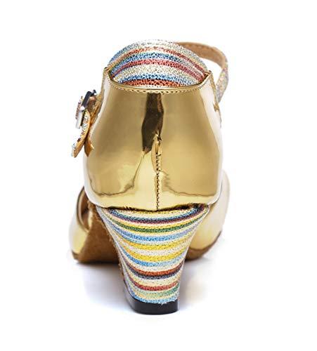 Heel Sala l308 Oro 35 Minitoo Donna gold Minitoouk 5cm Da L1ZB18wHxq