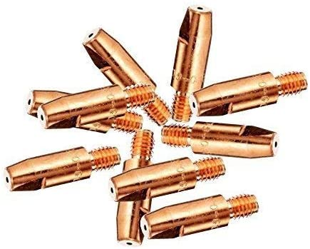 M6 MIG Welding Contact Tips - - 0.8mm Pack of 10 MB15