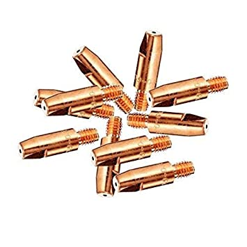 Zawory, regulatory i akcesoria Firma i Przemysł 0.8mm Mig Welding Welder Round Contact Tips for MB25 MB36 Euro Torches 25pk