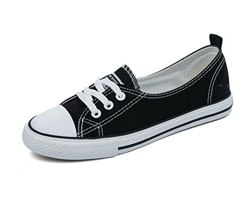 Lona Ocio 38 Sencillo XIE 39 Escuela Permeabilidad Zapatos Estudiantes Zapatos Señora Compras Colores Verano BLACK Cuatro Movimiento de de wIaqf0