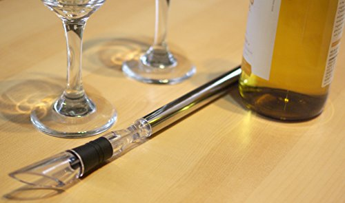 Wine Chiller: BlizeTec 3-in-1 Stainless Steel Wine Bottle Cooler Stick with Aerator and Pourer by BlizeTec (Image #4)
