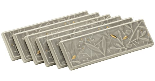 Kohler K-45921-DE-K5 Gilded Meadow Decorative Tile with Gold Accents, Set of 6 13 Gold Tile Flooring