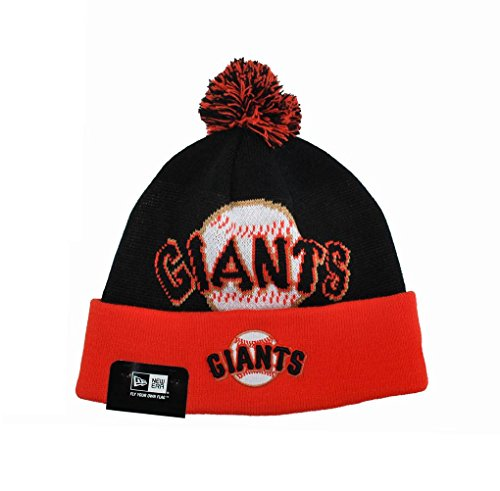 New Era San Francisco Giants Mlb Baseball Beanie Unisex One Size Knit Black/orange ()