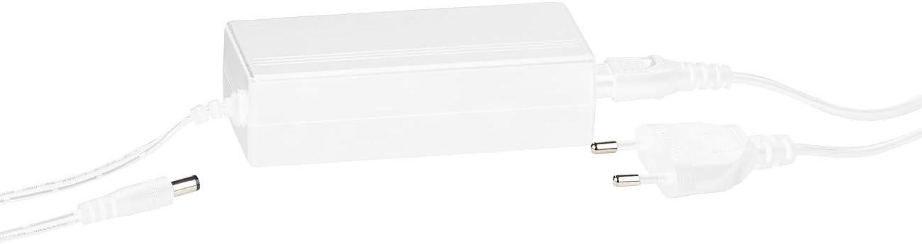 Luminea Zubehör zu IP65, Controlador: Fuente de alimentación de 12 voltios para Controlador WLAN Lam/LAK/LAT/LAC/LAX, 5 A, 60 vatios (Tiras de LED con 80,3 x 42,5 x 5,5 cm, Impuestos)