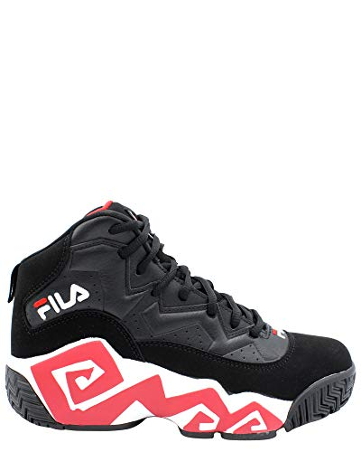 Fila Men's MB Leather Retro Basketball Trainers Shoes Sneakers Black Size 10.5 ()