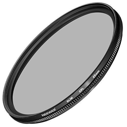Neewer 49MM Ultra Slim CPL Filter Circular Polarizer Lens Filter for Sony Alpha A3000 DSLR and NEX Series (NEX-3 NEX-5N NEX-7 NEX-F3) Cameras with 18-55mm and 55-210mm Lenses