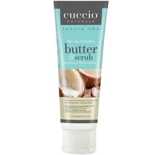 Cuccio Coconut & White Ginger Butter & Scrub ? 4 oz.