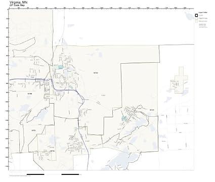 Amazon.com: ZIP Code Wall Map of Virginia, MN ZIP Code Map Laminated on
