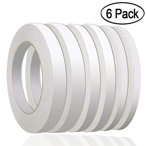 236 Yards Double Sided Tape, Aniann 6 Rolls Heavy Duty Adhesive Sticky Tape Two Sided Tapes for Scrapbooking, Card Making, Gift Wrapping, Arts & Crafts ((1/4'', 1/3'', 1/2'' x 36m/39.4 Yards) by Aniann