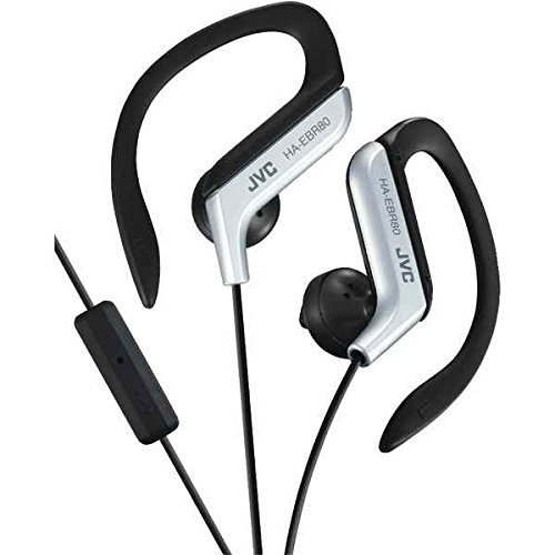 Silver Sportclip (Sport-Clip In-Ear Ear-Clip Headphones with Microphone and Remote)