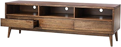 """Home Decorators Collection Conrad Tv Stand, 22"""" Hx67 Wx18 D, Antique Natural - 21.75""""H x 67""""W x 17.75""""D. Assembly required. Our No Hassle Return policy gives you peace of mind to enjoy the purchase in your home for up to 45 days. - tv-stands, living-room-furniture, living-room - 41MndKzF4RL -"""