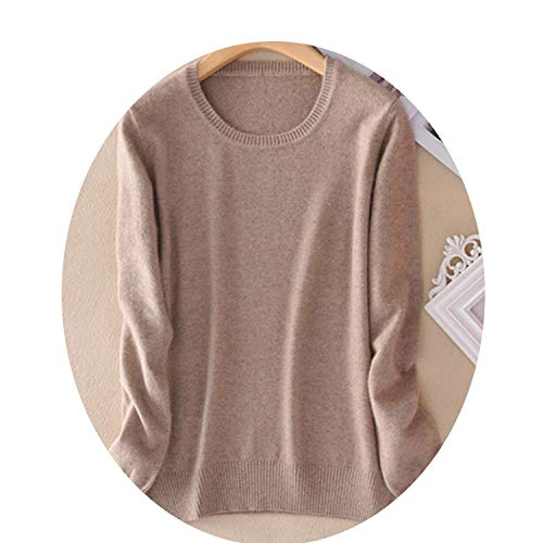 The right person Cashmere Sweater Female Knitted Pullover Women Winter Sweaters Plus Size Cashmere Sweater Women,Camel,S (Cashmere Baby Doll Sweater)