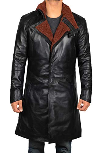 fjackets Leather Coat Mens - Big and Tall