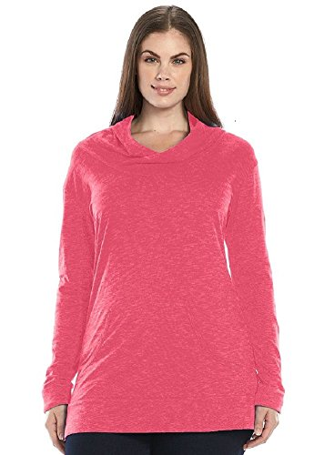 Plus Size Columbia Face Rock Space-Dyed Hooded Top
