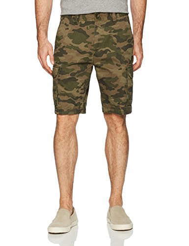 Amazon Essentials Men's Classic-Fit Cargo Short, Green/Brown Camo, 38 ()