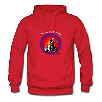 Skeleton Jam Bald Comfortable Shirts X-large Women Designed Red