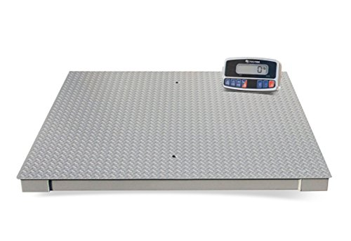 PRO-TEK PLP4X4 2500/5000 Digital 4x4 Low Profile Floor Scale, Large LCD Display, Heavy Duty Steel Construction, 2,500 kg/5,000 Capacity (Pack of 2) Digital Large Display Floor Scale