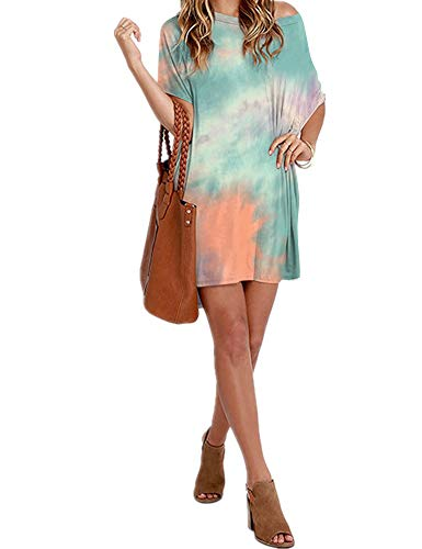 Women Loose T Shirts Home Short Shirt Mini Dresses Tops