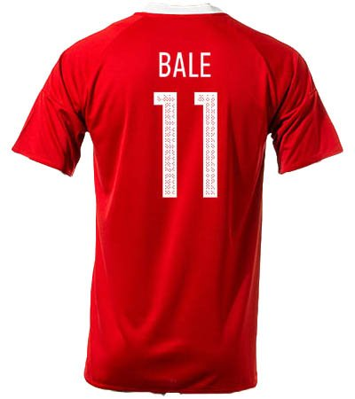 #11 Gareth Bale Wales Home National Soccer Team Euro 2016 Cup Jersey + get Mr. Sport box as a GIFT (Large)