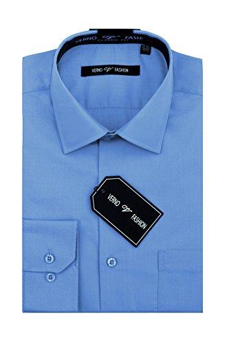 Verno Luxton MensFashion(Regular) Fit Long Sleeve Dress Shirt, 17-17 1/2