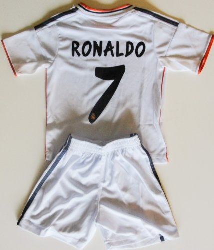 2013/2014 real madrid home football soccer kids jersey & short RONALDO 7