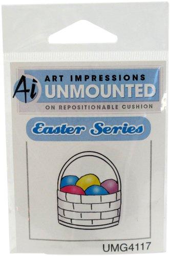Art Impressions Easter Basket Rubber Stamp (Basket Rubber Stamp)