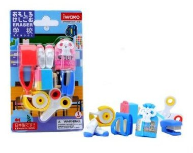 Game / Play Iwako Japanese Eraser Set - School Accessories, erasers, school, scissors, japanese, toys, store Toy / Child / Kid