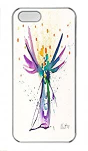 Abstract Paint pragmatic PC Transparent For Iphone 5C Phone Case Cover - Tree
