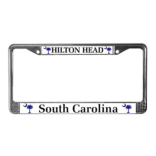 CafePress Hilton Head Island Chrome License Plate Frame, License Tag ()