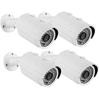 Security Camera CANAVIS AHD CCTV Camera 720P 36PCS IR-LEDs 3.6mm Lens with IR Cut Home Security Day/Night Waterproof CCTV Camera- 100ft IR Distance,Indoor/Outdoor (3.6mm 4pack)