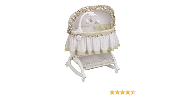 Amazon Easy Reach Rocking Bassinet With Light Vibes Mobile Baby