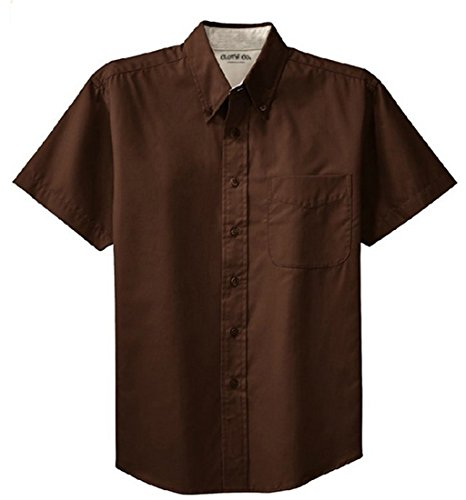 clothe-co-mens-short-sleeve-wrinkle-resistant-easy-care-button-up-shirt-coffee-bean-light-stone-l